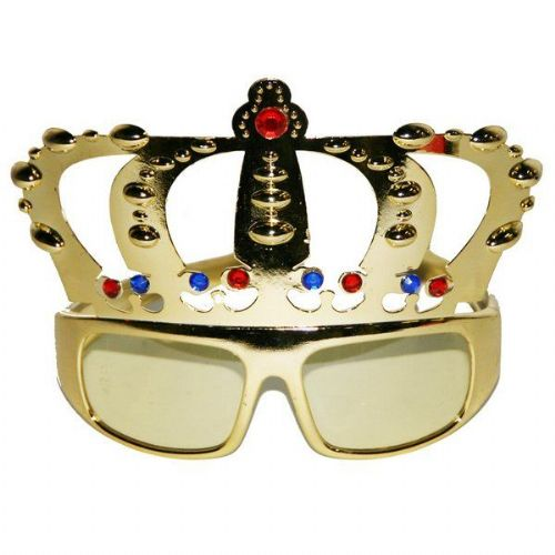 Party Glasses Crown Queen King Prince Princess
